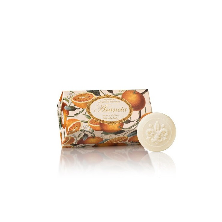 Vegetable soap Orange 6 x 50 g