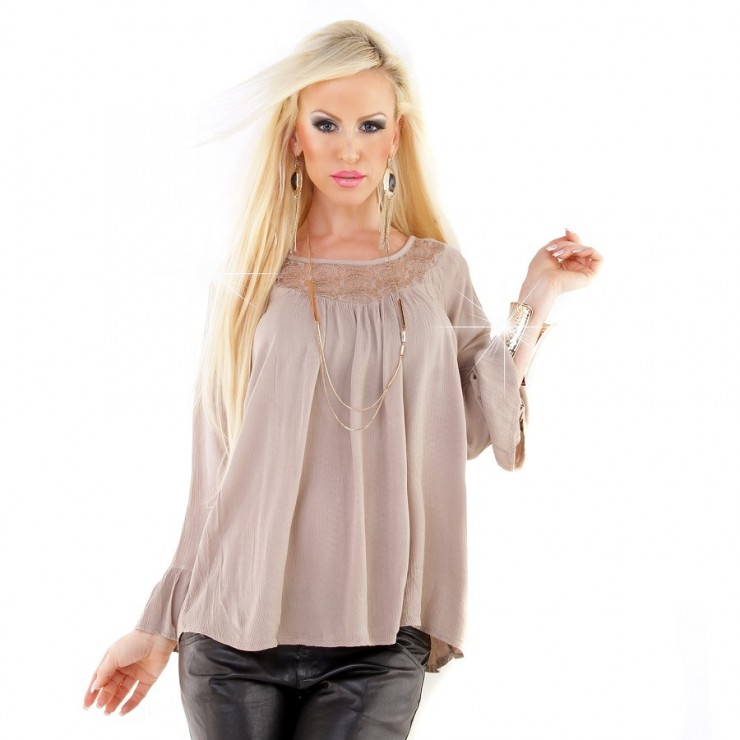 Women's blouse/tunic MI1314 taupe Made in Italy
