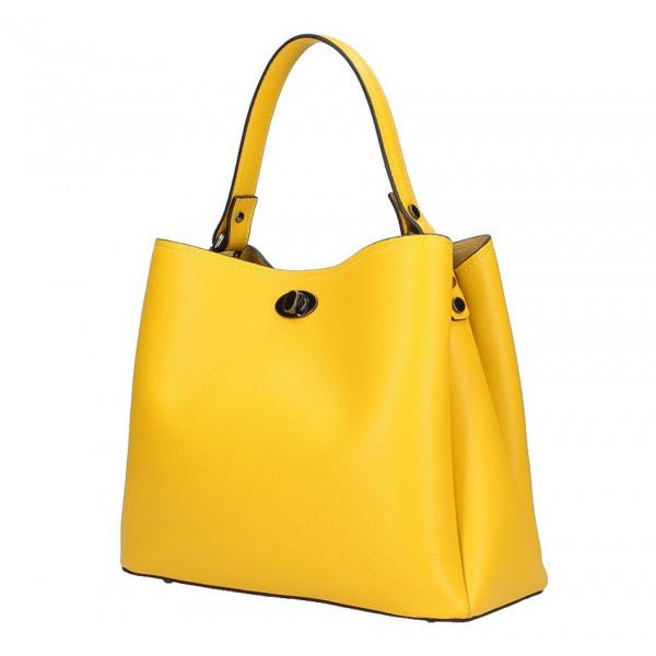 a530f50ce7 Kožená kabelka do ruky 5321 žltá - MONDO ITALIA s.r.o.