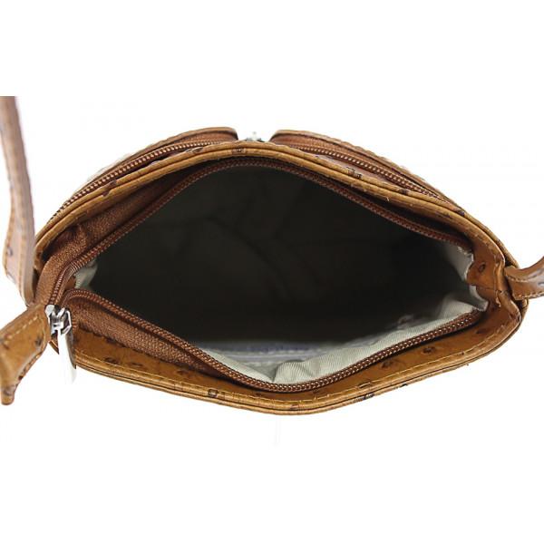 Kožená kabelka na rameno 603B azurovo modrá