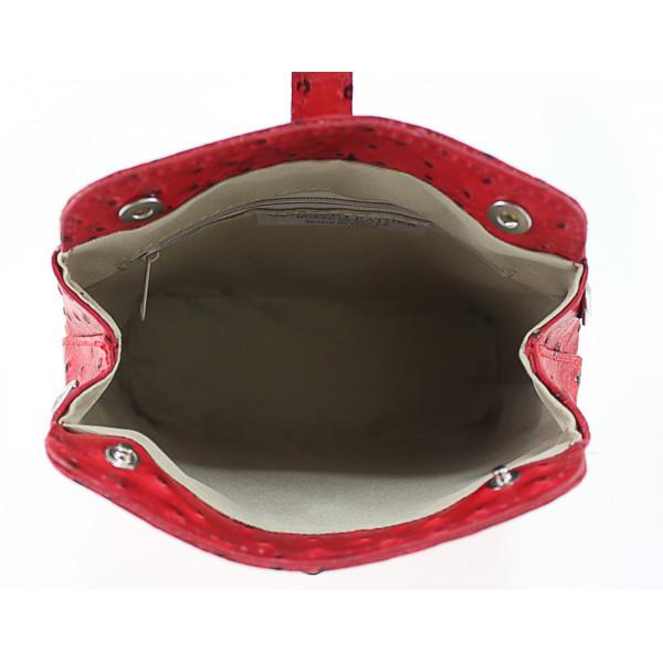 Kožená kabelka na rameno 603C tmavozelená