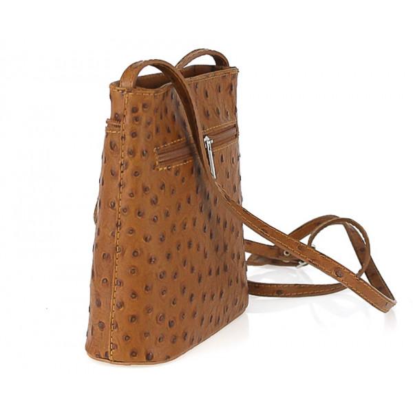 Kožená kabelka na rameno 603B fucshia