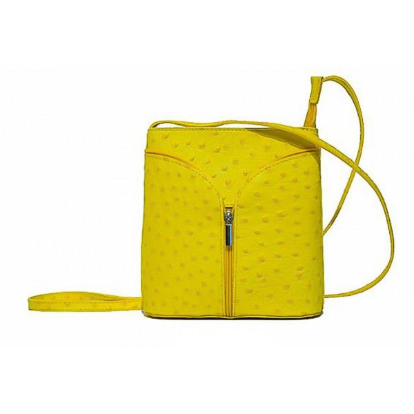 Kožená kabelka na rameno 603B žltá