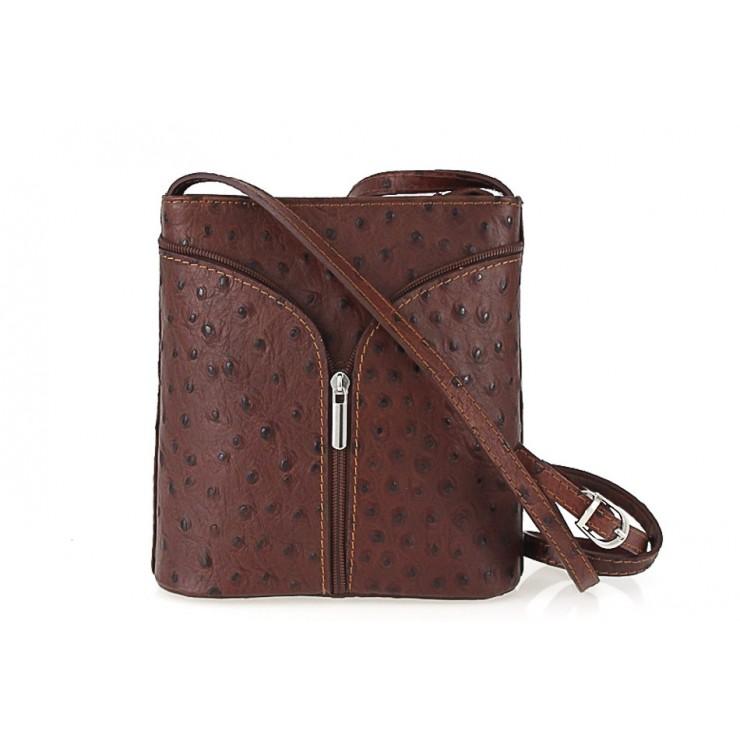 Kožená kabelka na rameno 603B hnedá