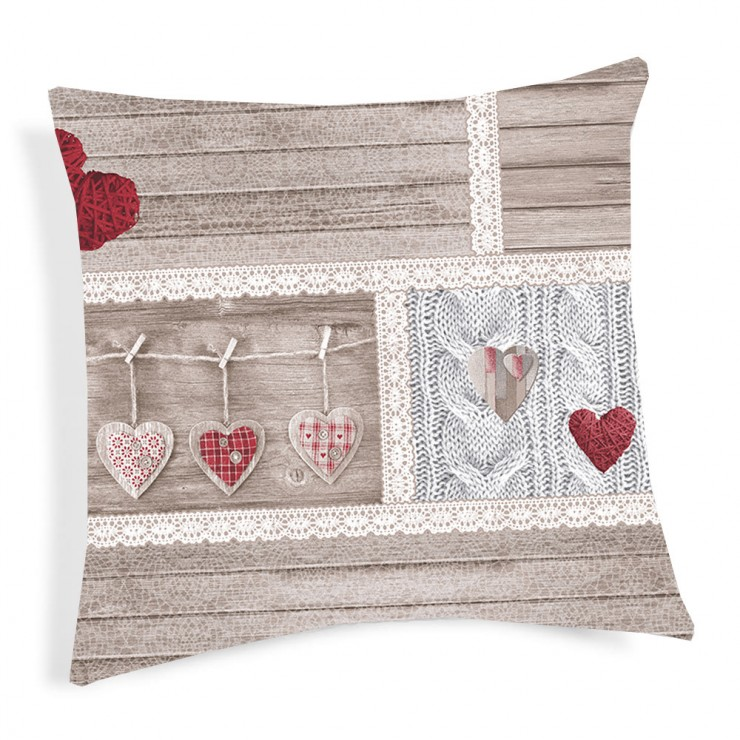 Pillowcase Shabby red 40x40 cm