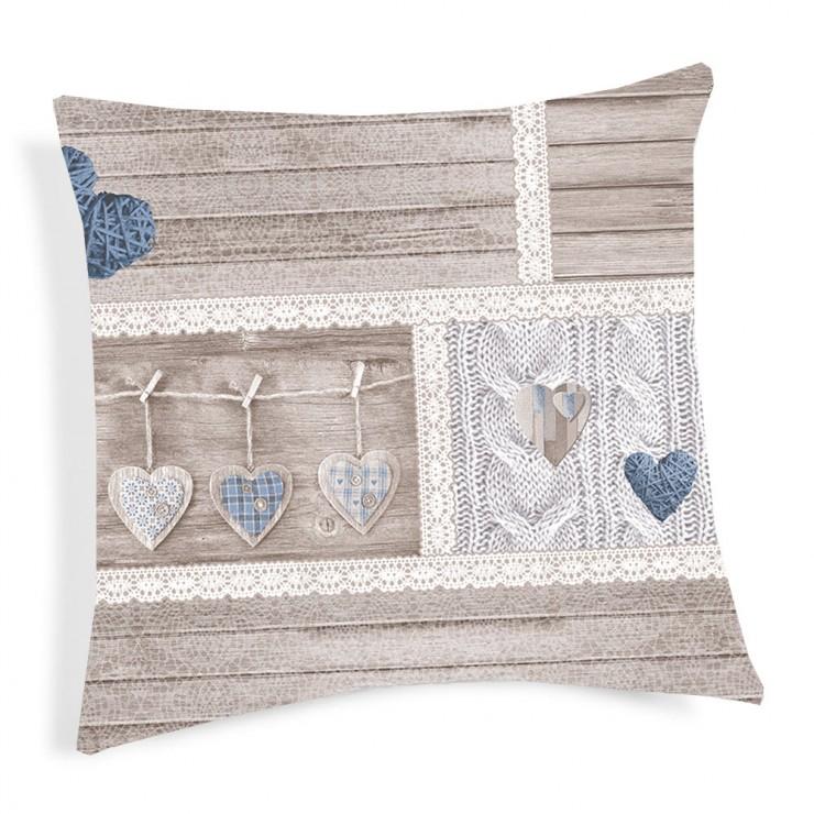 Pillowcase Shabby blue 40x40 cm
