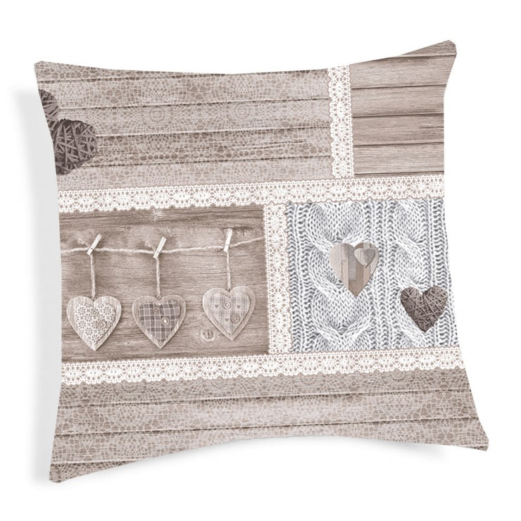 Pillowcase Shabby beige 40x40 cm