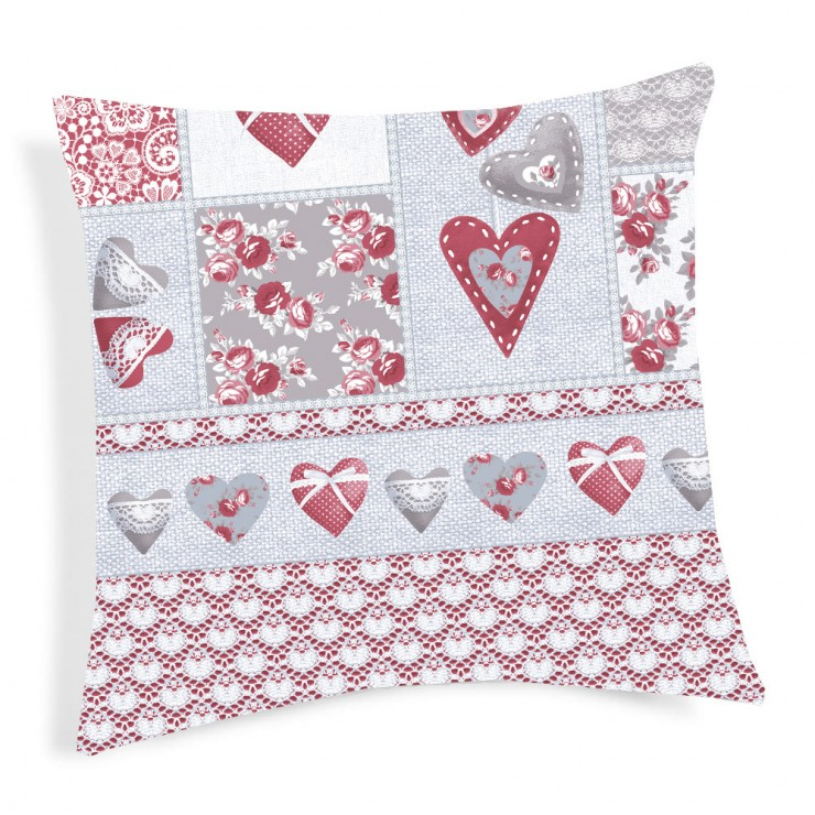 Pillowcase Patchwork Primavera red 40x40 cm