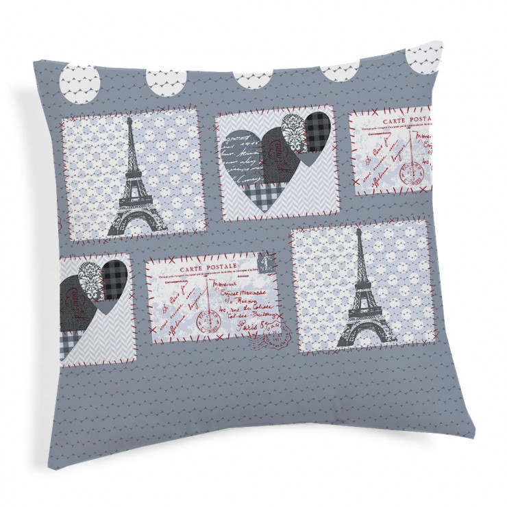 Pillowcase Paris gray 40x40 cm