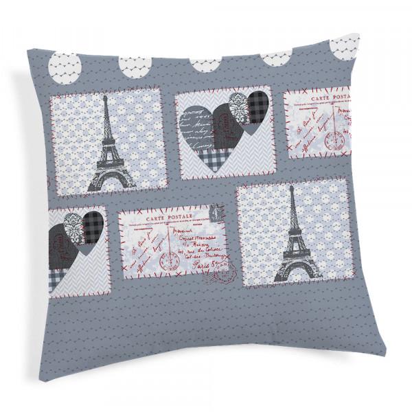 Obliečka na vankúš Paríž šedá 40x40 cm