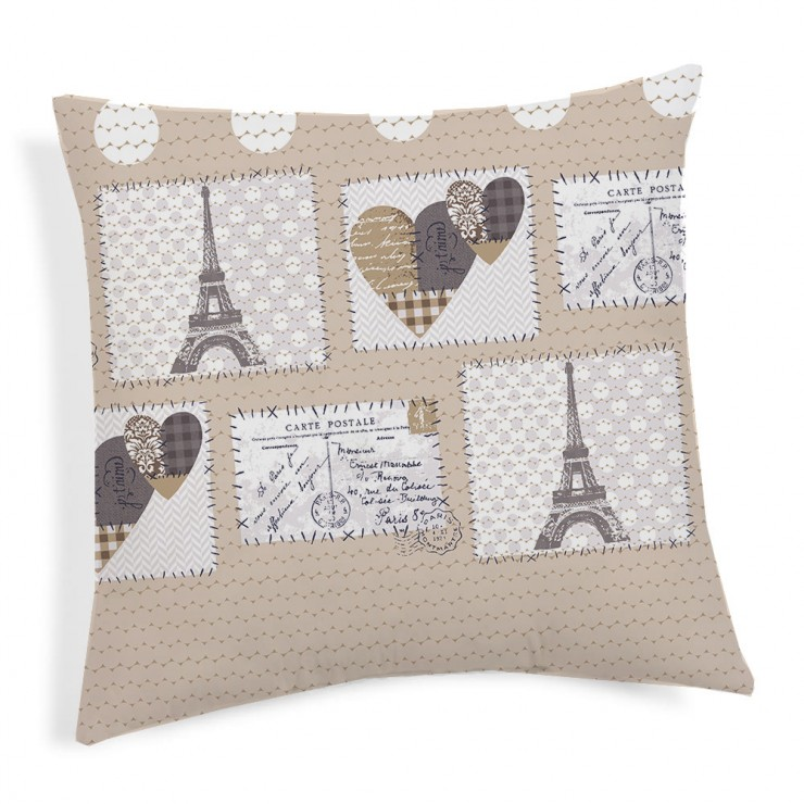Pillowcase Paris beige 40x40 cm
