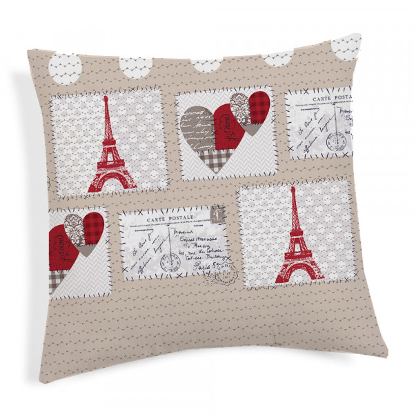 Obliečka na vankúš Paríž červená 40x40 cm