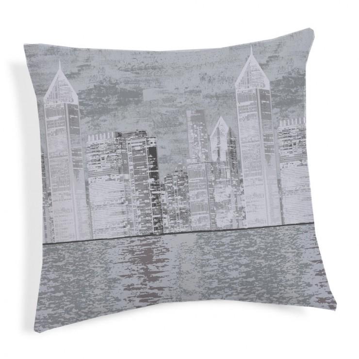 Obliečka na vankúš New York šedá 40x40 cm Made in Italy