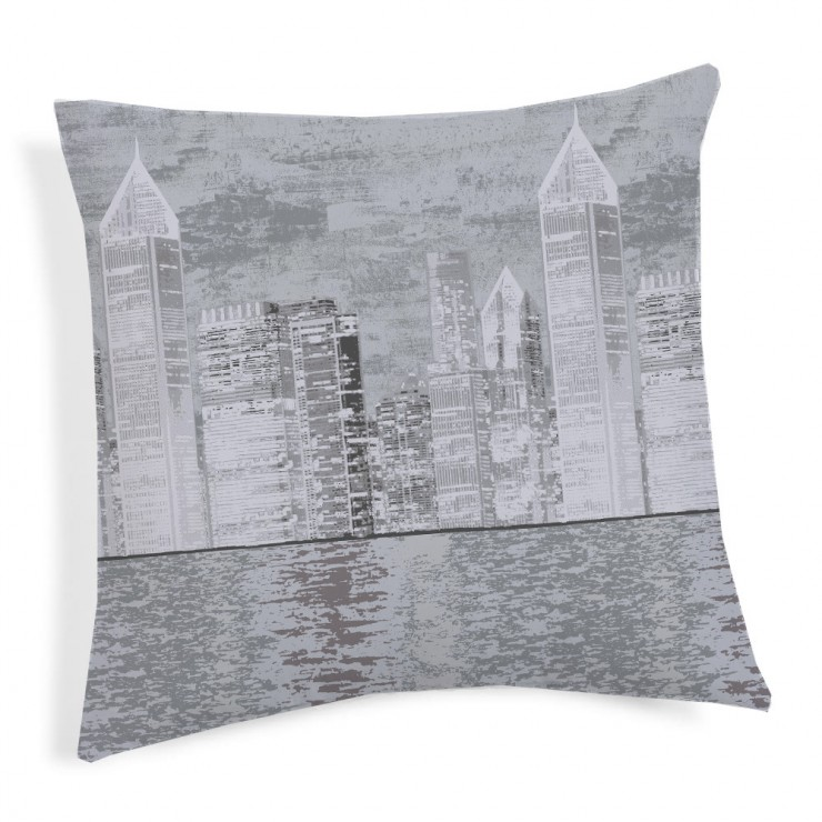 Pillowcase New York gray 40x40 cm