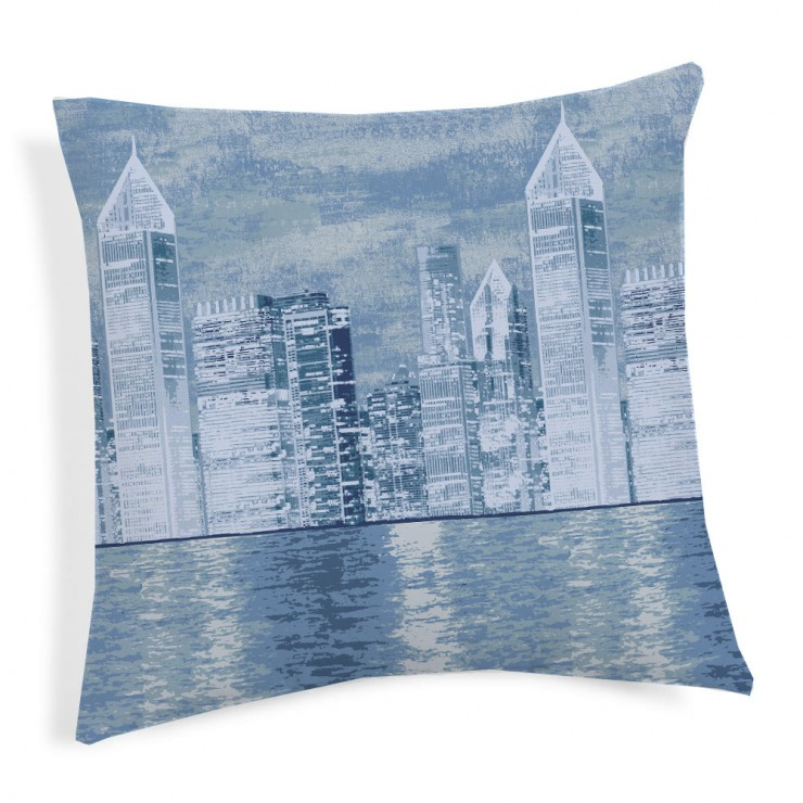 Pillowcase New York blue  40x40 cm