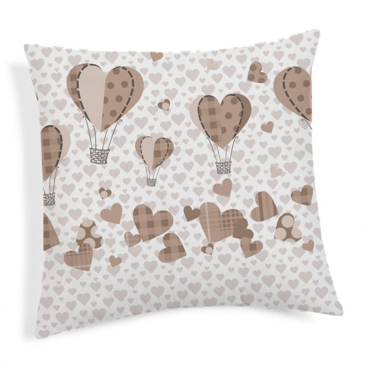 Pillowcase Ballons beige 40x40 cm