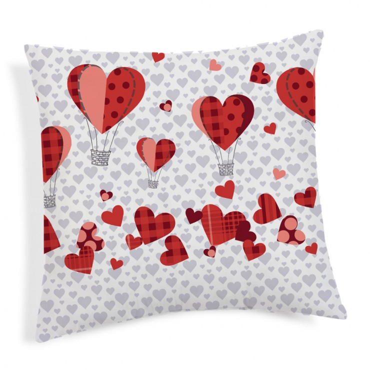 Pillowcase Ballons red 40x40 cm