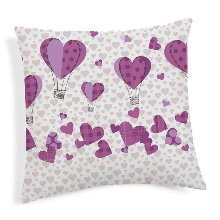 Pillowcase Ballons violet 40x40 cm