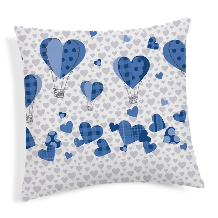 Pillowcase Ballons blue 40x40 cm