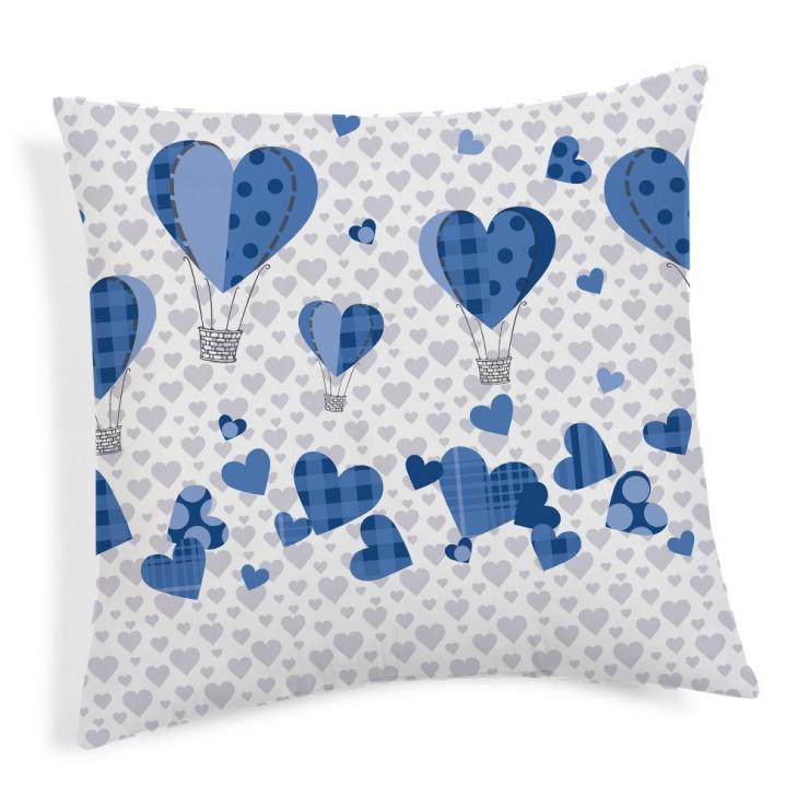 Povlak na polštář Balóny modrý 40x40 cm