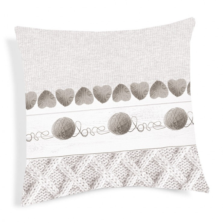 Pillowcase Ball of wool beige 40x40 cm
