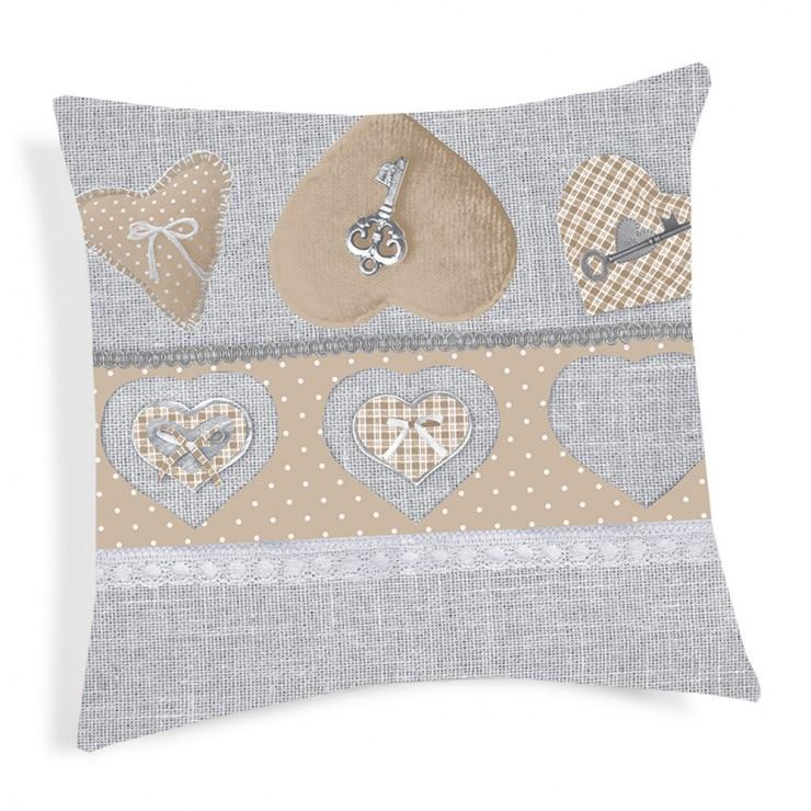 Pillowcase Key beige 40x40 cm