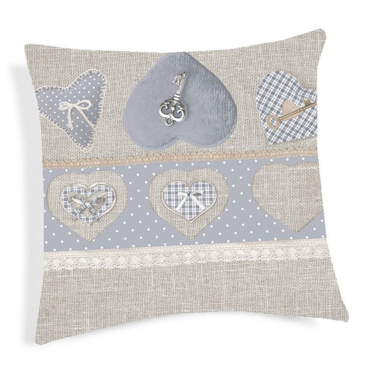Pillowcase Key gray 40x40 cm