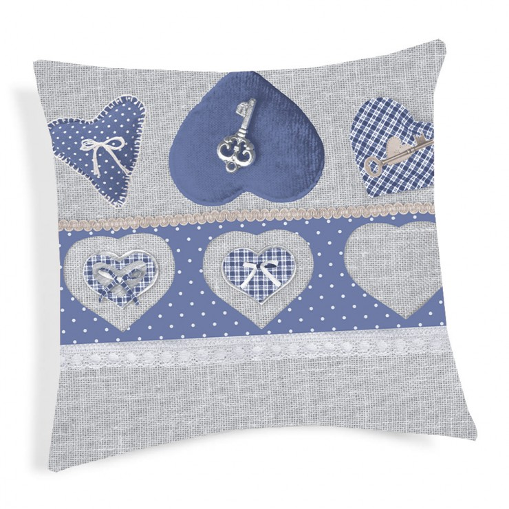Pillowcase Key blue 40x40 cm