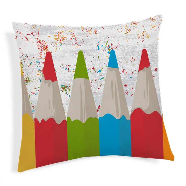 Kissenbezug Bleistifte multicolor 40x40 cm