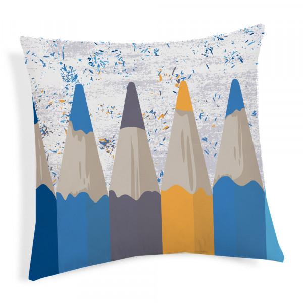 Obliečka na vankúš Ceruzky modrá 40x40 cm