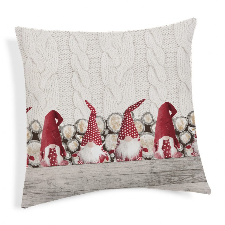 Pillowcase Gnomes red 40x40 cm