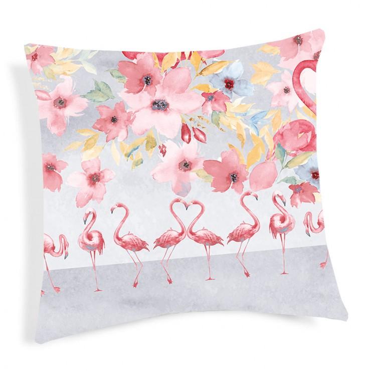 Kissenbezug Flamingo rot 40x40 cm