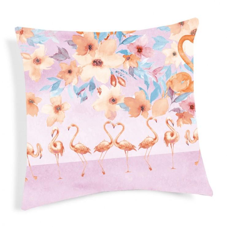 Kissenbezug Flamingo orange 40x40 cm