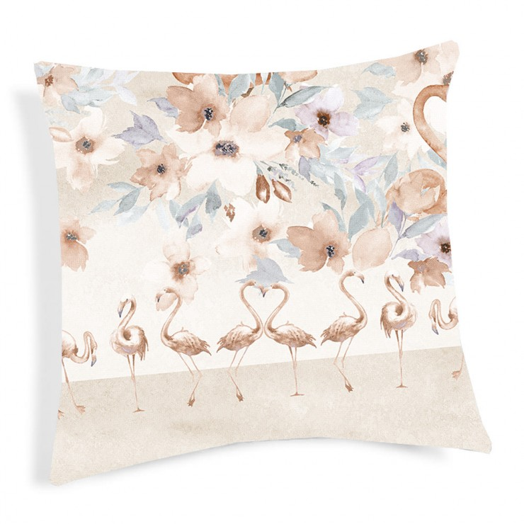 Kissenbezug Flamingo beige 40x40 cm
