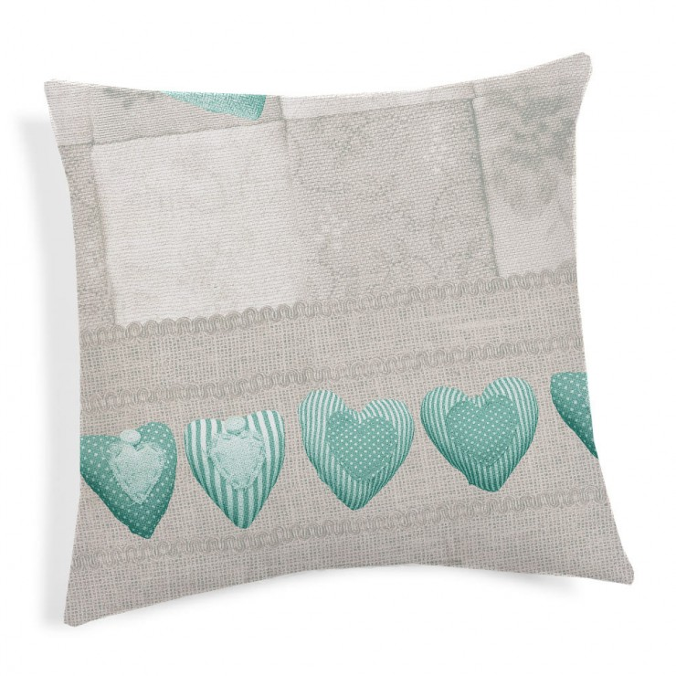 Pillowcase Patchwork green 40x40 cm