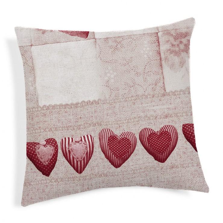 Pillowcase Patchwork red 40x40 cm