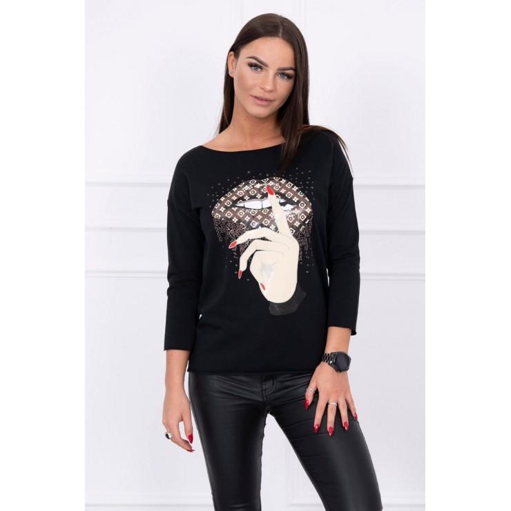 T-shirt with color print MI64633 black