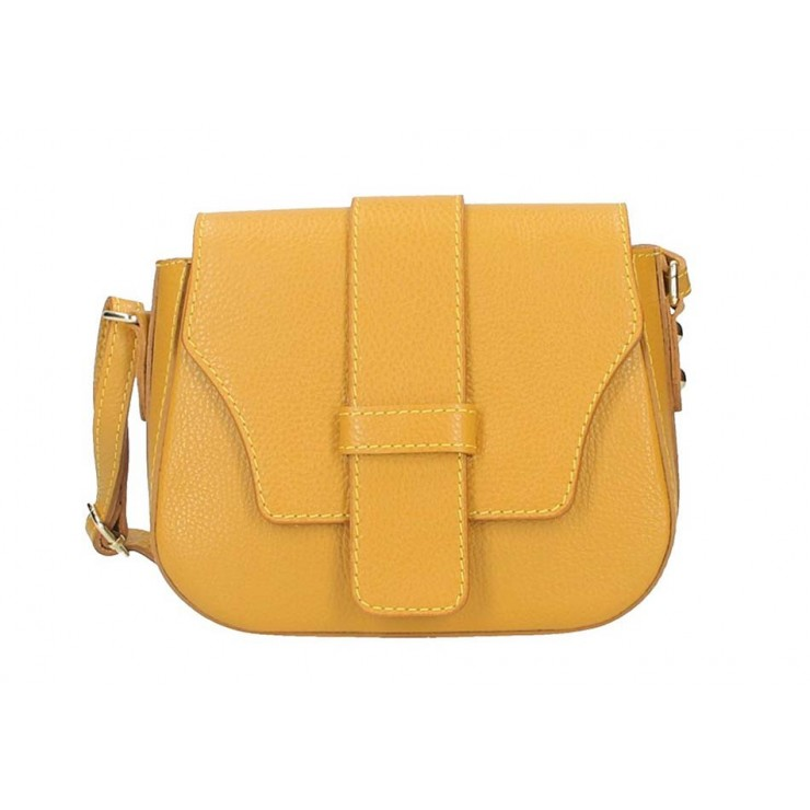 Genuine Leather Shoulder Bag 870A mustard