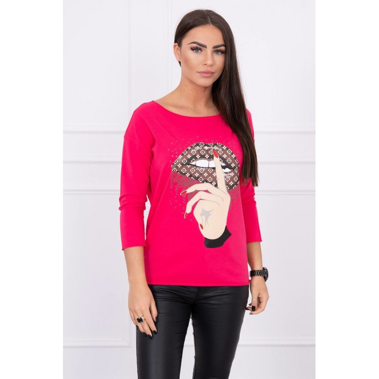 T-shirt with color print MI64633 fuxia