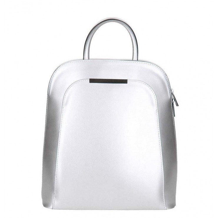 Leather backpack 1488 silver