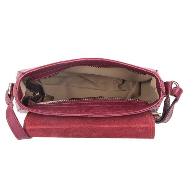 Tmavá šedohnedá talianska kožená kabelka na rameno 870A