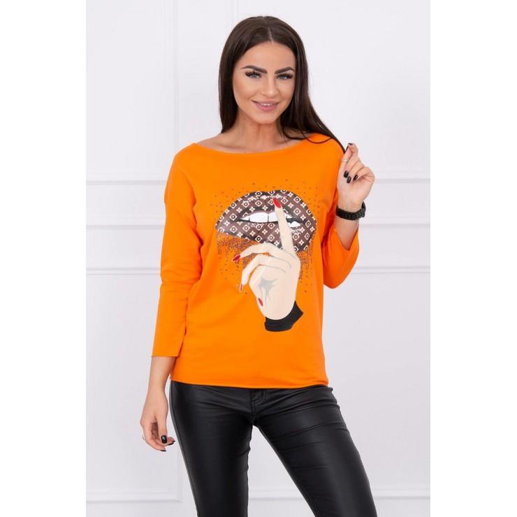 Tričko s farebnou potlačou MI64633 oranžové