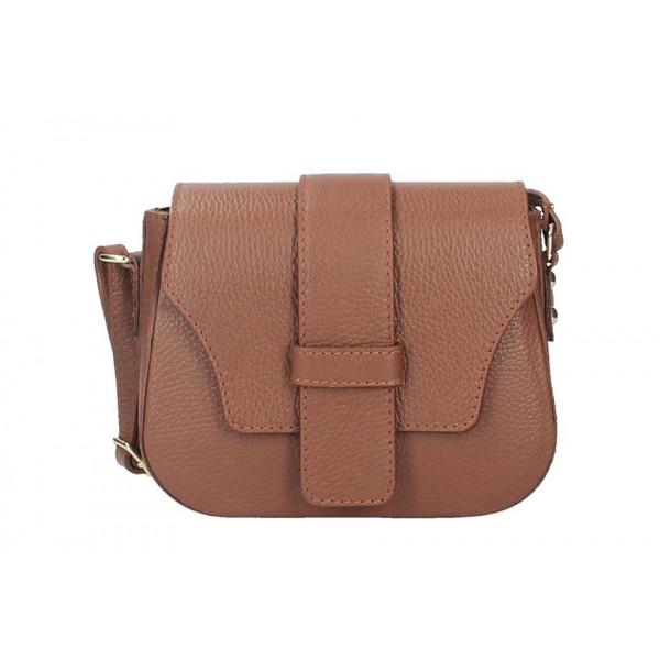 d2daced1f Hnedá talianska kožená kabelka na rameno 870A - MONDO ITALIA s.r.o.