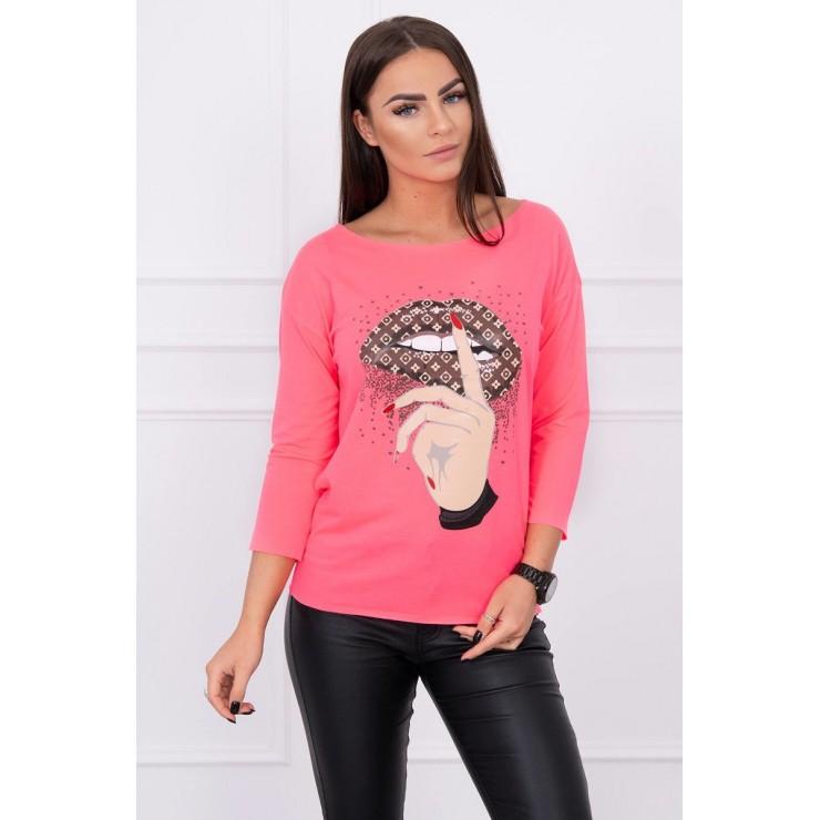 Tričko s barevným potiskem MI64633 růžové