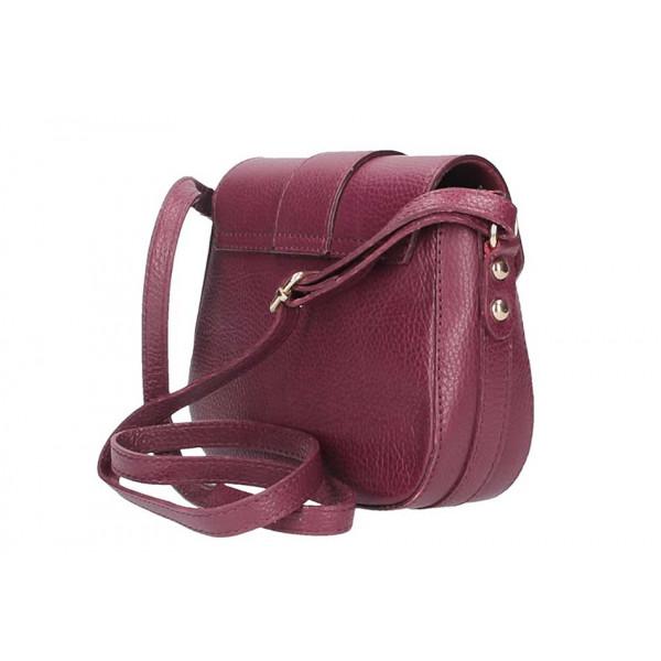 Červená talianska kožená kabelka na rameno 870A
