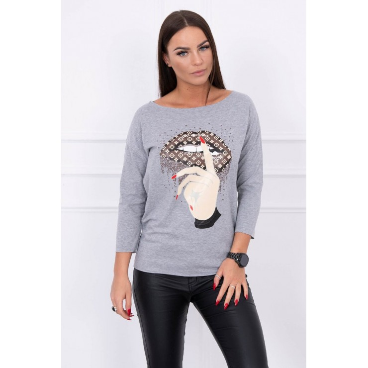T-shirt with color print MI64633 gray