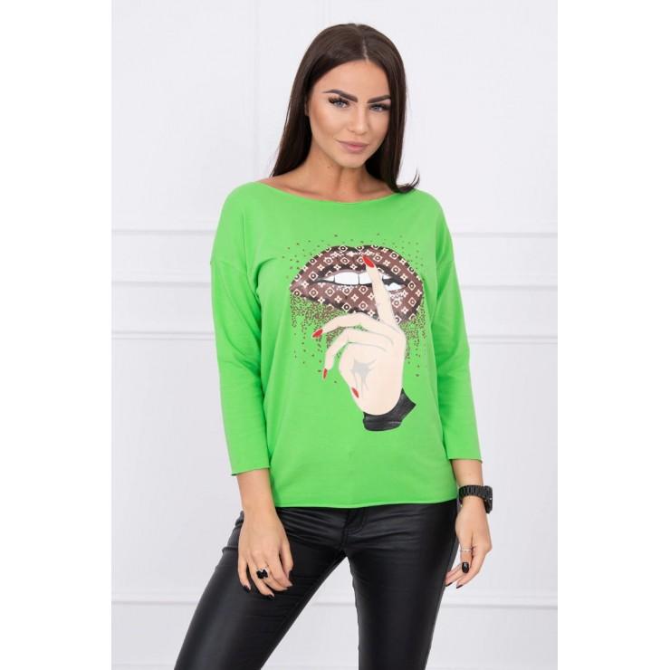Tričko s farebnou potlačou MI64633 zelené