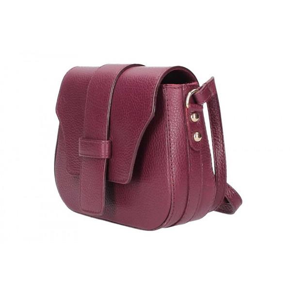 Koňaková talianska kožená kabelka na rameno 870A