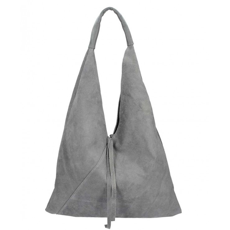 Genuine Leather Maxi Bag 184 dark gray