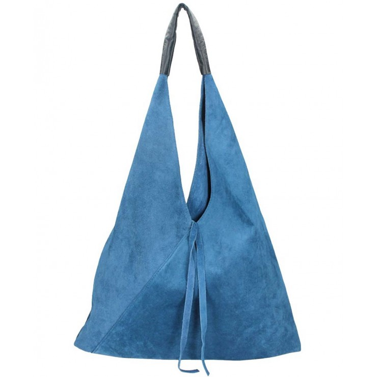 Genuine Leather Maxi Bag 184 jeans